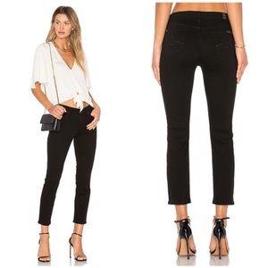 7FAM Kimmie Crop Black Jeans